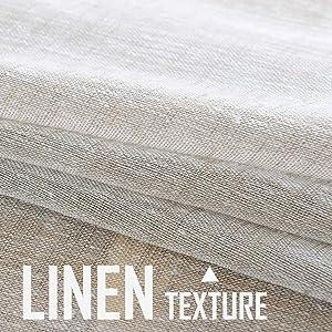nature farmhouse linen texture good quality long living room curtains