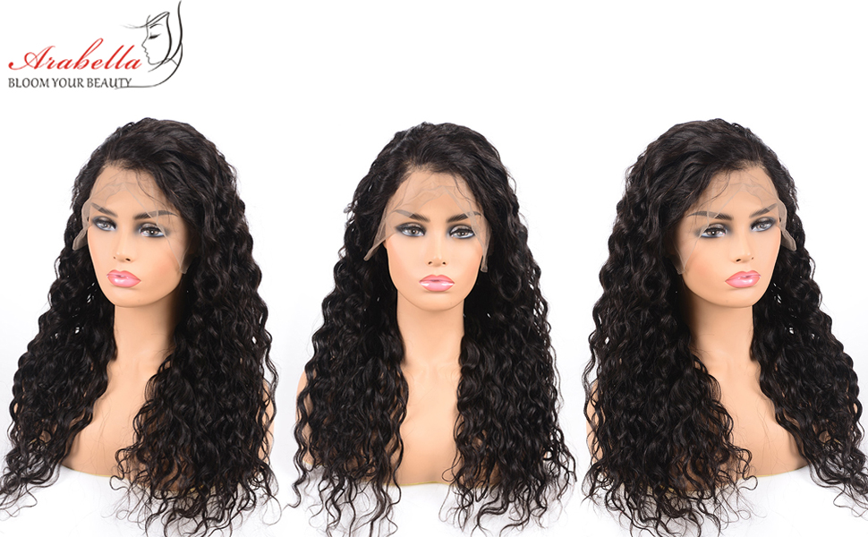 water wave lace frontal wig 360