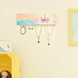 hair bow holder wood jewelry organizer girls jewelry organizer wall mounted jewelry organizer