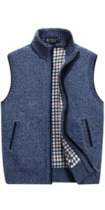 Knitted Cardigan Sweater Vest