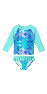 girls rashguard swimsuit