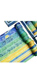 12 Rolls Van Gogh Washi Tape