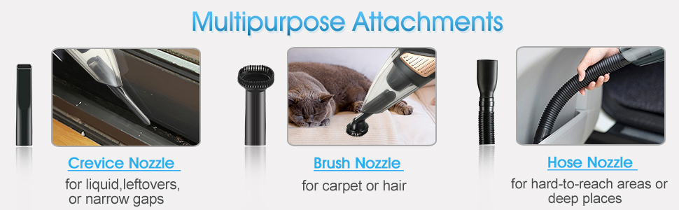 Crevice Nozzle for liquid leftovers or narrow gaps,brush for hair hose nozzle for hard deep places