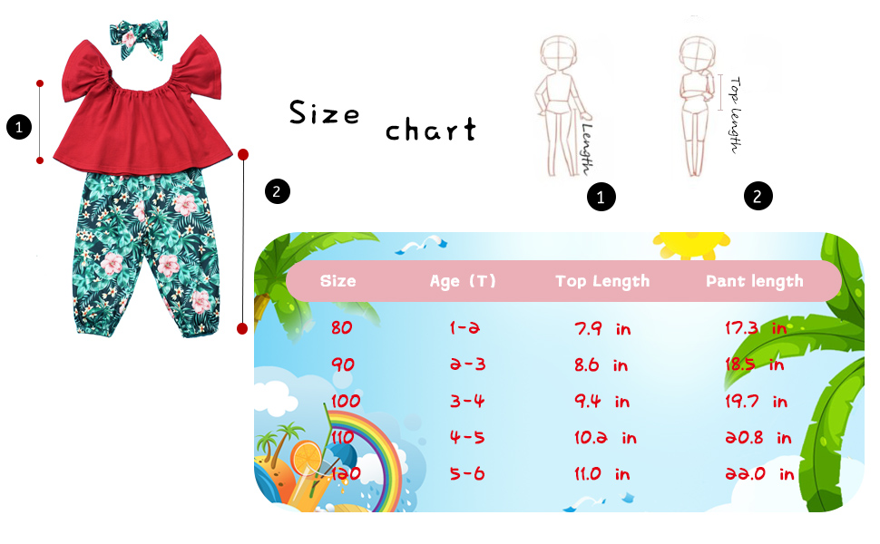 3Pcs Toddler Girl Clothes Kid Trumpet Sleeve Tops + Floral Pant with Headband Outfit