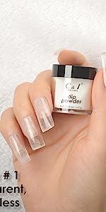 dip powder, dipping powder, base color, white, transparent, black