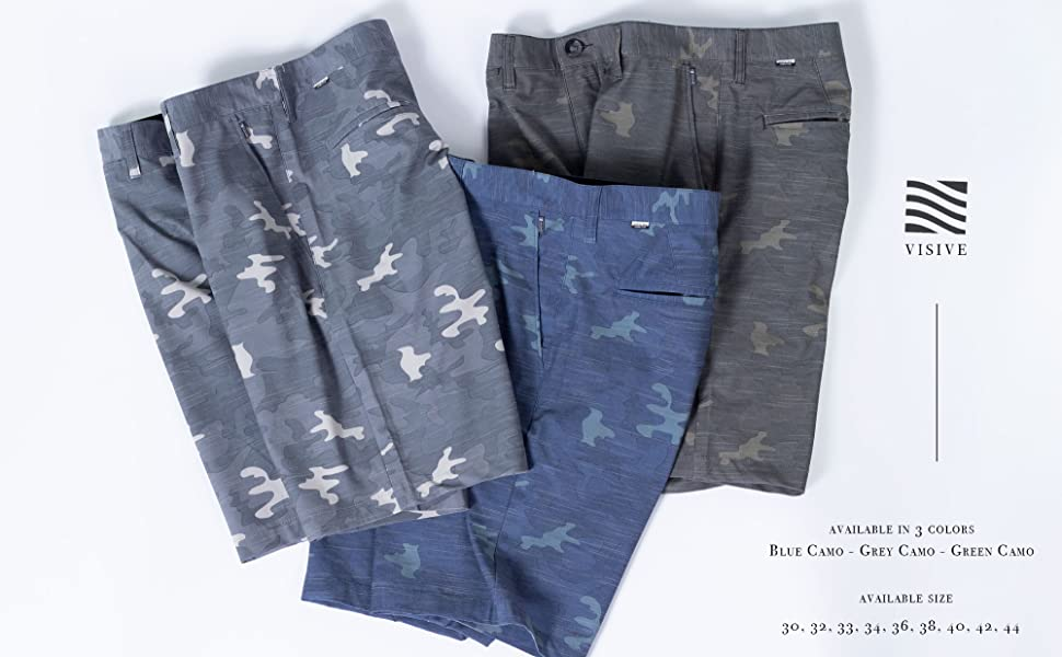 camo camouflage hybrid short shorts stretch lightweight golf performance boardshort swim trunks
