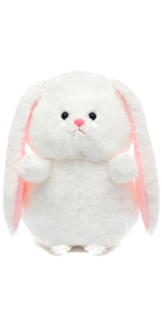 12 INCHES LOONG EARS WHITE PLUSH BUNNY