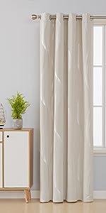 striped foil blackout curtains for bedroom