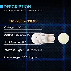 led light bulb automotive instrument cluster bulbs dash light bulb blue dome lights under hood light