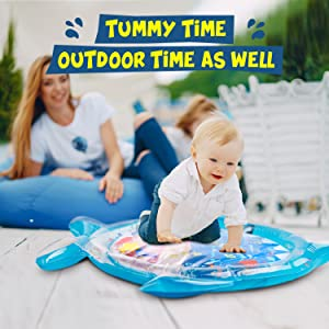Soopotay Tummy Time Water Play Mat Baby Water Mat for 3 to 12 Months Girl Boy