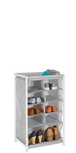 Soft Fabric Shoe Rack Holder & Organizer - 10 Cube Shelf Garage Kid Playroom