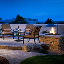 lava rock natural fire pit outdoor