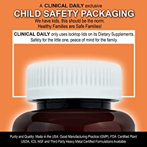 Clinical Daily Child Proof and Baby Proof Lock Top lid CRC for child safety