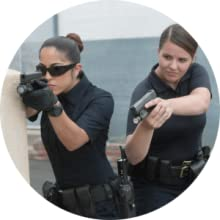 female police officer glove tactical