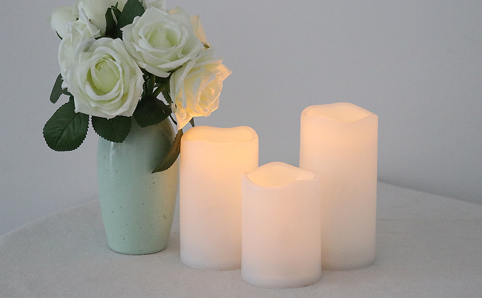 White Flameless Candles