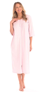 WOMENS LADIES NIGHTGOWN PAJAMAS PRINTS PATTERNS WHITE PINK BLUE RED LACE COZY FLANNEL COTTON POLY