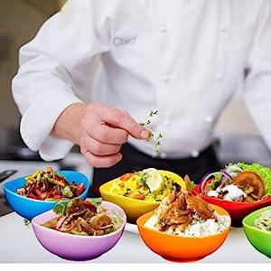 e Porcelain Bowls - 26 Ounce for Cereal, Soup, Salad and Fruit, Set of 6,cereal bowls