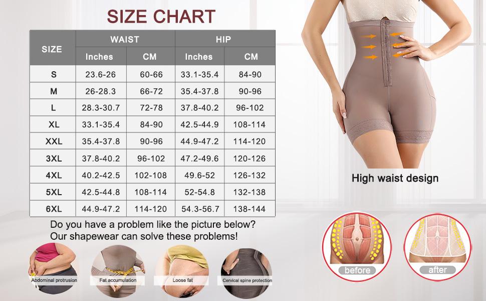 shapewear for women body shaper for women plus size high waist butt lifter panties