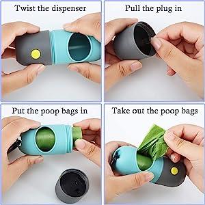 dog bag dispenser dog poop bag holder for leash perros accesorios poop dispenser small dog poop bag