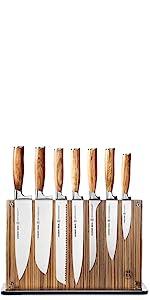 Zebra Wood 15 Piece Knife Set
