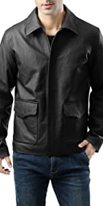 Landing Leathers Men's Raider Indy-Style Leather Jacket