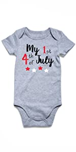 my 1st 4th of july baby onesie