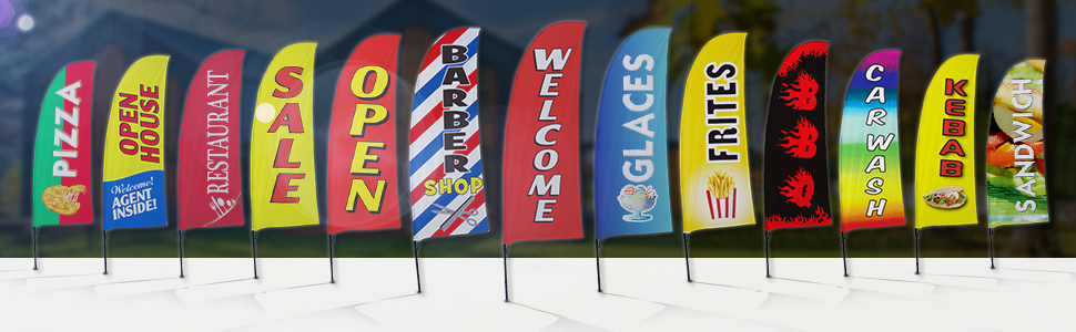 Variety Business Advertising Feather Flag