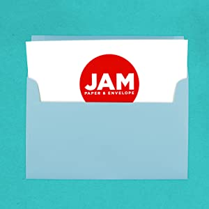 baby blue A10 colored envelope