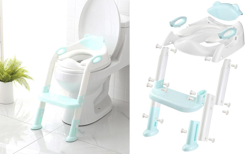 blue potty seat