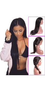 Younsolo Straight Lace Front Wig