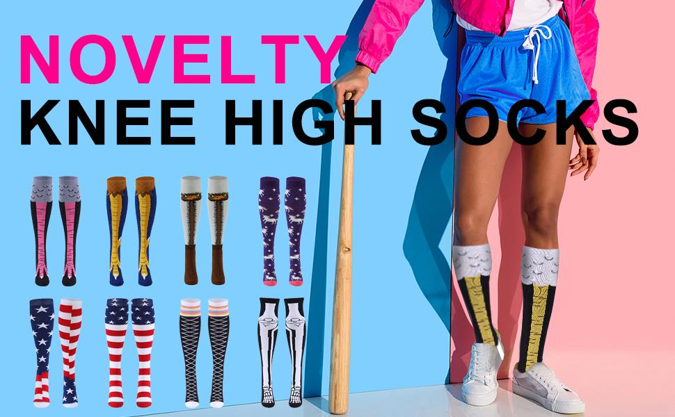 novelty knee high socks