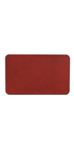 Area Rug House Home And More Skid-Resistant Low Pile Height Brick Red