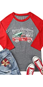 Merry Christmas Tree Tshirt with Truck