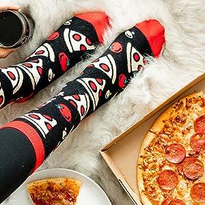 funny pizza socks