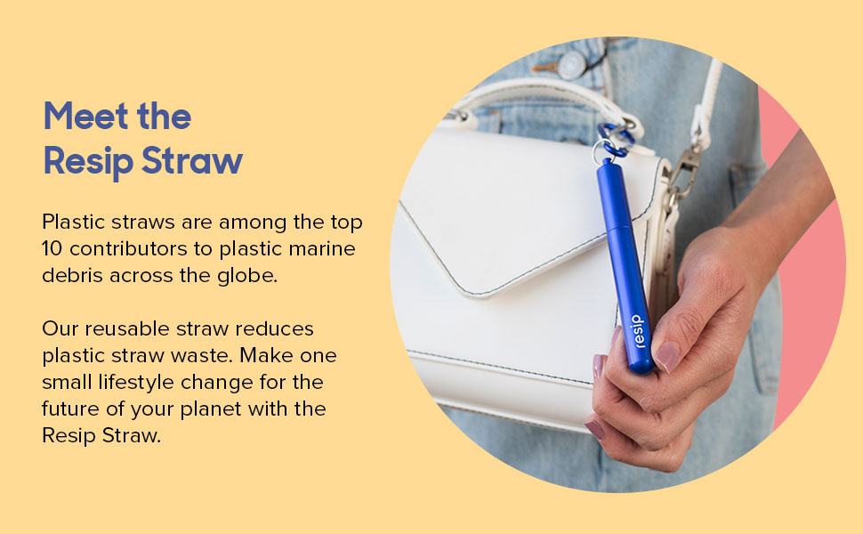 Millions of plastic straws are discarded to the ocean, resip helps reduce marine waste completely.