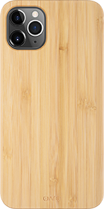 iATO iPhone 11 Pro Max Case. Real Natural Bamboo Wood Cover. Minimalistic Slim Open Top Bottom