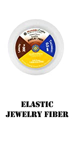 Elastic Stretchy Clear Beading String Cord for Seed Beads Beading Jewelry Makin