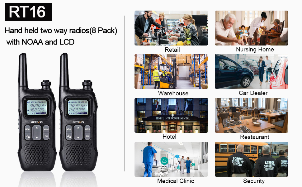retevis noaa walkie talkies for adults business
