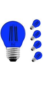 a15 led filament bulbs blue