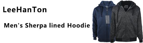 mens sherpa lined hoodie
