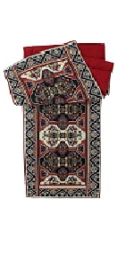 majestic red persian rug elegant ornate table runner tapestry placemat dining table floral home deco