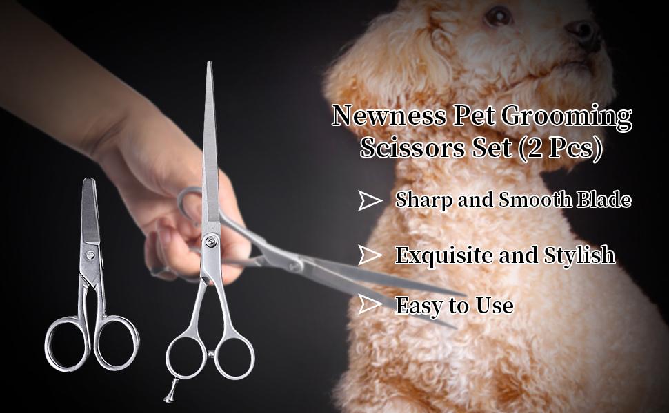 Newness Pet Grooming Scissors Set