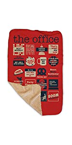 the office mash up sherpa blanket cozy winter quotes moments mashup fan gifts