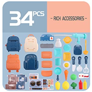 34pcs kitchen toy set
