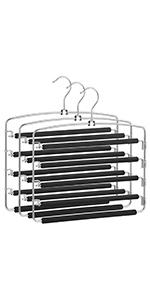 Multi-bar metal pants hangers