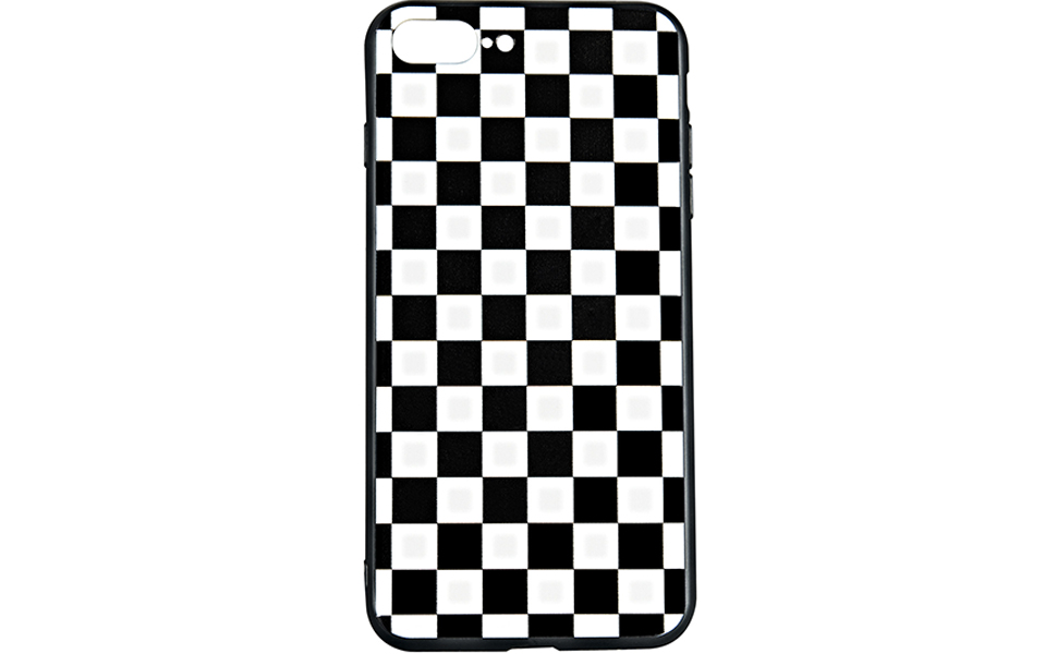 black white grid case