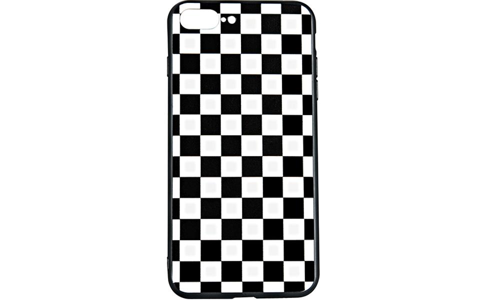 black white grid case