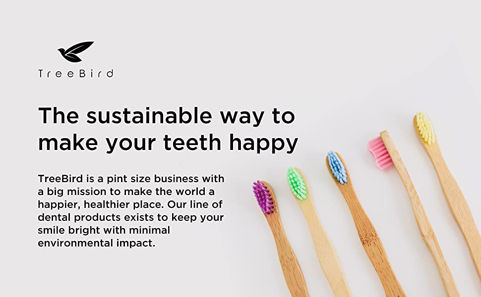 Kids bamboo toothbrush extra super soft bristles wooden handle bpa-free natural sustainable product