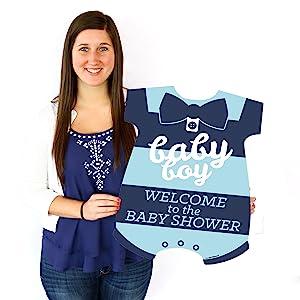 Hello Little One Blue Navy Boy Baby Shower Welcome Yard Sign