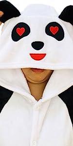 cute panda onesie pajamas halloween christmas cosplay costumes onsie pijama pjs